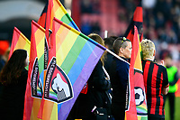 Flags in support of LGBT during AFC Bournemouth vs Wolverhampton Wanderers, Premier League Football at the Vitality Stadium on 23rd February 2019