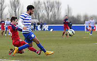 Greg Cochrane of Chicago Fire fouls Jordan Gibbons of QPR