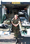 Army ambulance man Katwijk, Holland
