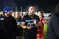 Henry Thomas of Bath Rugby after the match. European Rugby Champions Cup match, between Bath Rugby and RC Toulon on December 16, 2017 at the Recreation Ground in Bath, England. Photo by: Patrick Khachfe / Onside Images