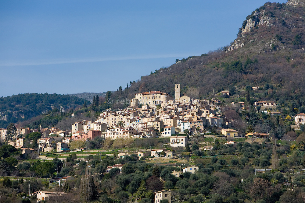 Hilltop village of Le Bar-Sur-Loup, Alpes Maritimes, France, 10 March 2009