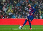 FC Barcelona's defense Gerard Pique during La Liga match. Mar 01, 2020. (ALTERPHOTOS/Manu R.B.)