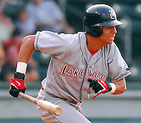 15 Aug 2007:  Quintin Berry of the Lakewood BlueClaws, Class A affiliate of the Philadelphia Phillies, in a game against the Greenville Drive at West End Field in Greenville, S.C. Photo by:  Tom Priddy/Four Seam Images