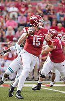 Hawgs Illustrated/BEN GOFF <br /> Cole Kelley, Arkansas quarterback, winds up to throw in the first quarter against Coastal Carolina Saturday, Nov. 4, 2017, at Reynolds Razorback Stadium in Fayetteville.