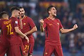 1st December 2017, Stadio Olimpico, Rome, Italy; Serie A football. AS Roma versis Spal; Goal celebration from Lorenzo Pellegrini Roma.