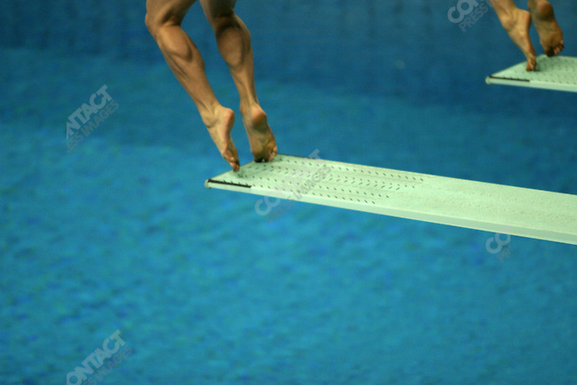 Women's Synchronized diving finals, 10 meter platform, Summer Olympics, Athens, Greece, August, 16, 2004..