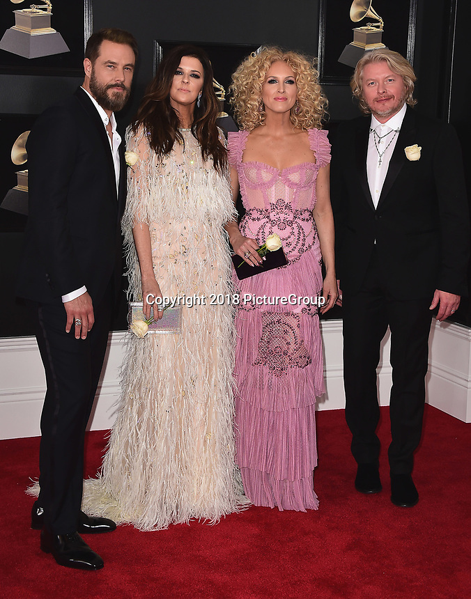 NEW YORK - JANUARY 28:  Little Big Town at the 60th Annual Grammy Awards at Madison Square Garden on January 28, 2018 in New York City. (Photo by Scott Kirkland/PictureGroup)