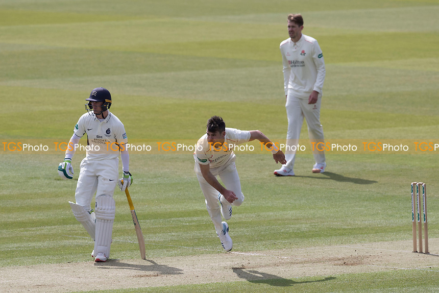James Anderson of Lancashire CCC in action during Middlesex CCC vs Lancashire CCC, Specsavers County Championship Division 2 Cricket at Lord's Cricket Ground on 11th April 2019