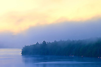 Fog at dawn on Lang Lake<br /> Just west of Algonquin Provincial Park<br /> Ontario<br /> Canada