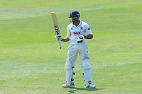 Ravi Bopara of Essex celebrates scoring a century, 100 runs during Essex CCC vs Warwickshire CCC, Specsavers County Championship Division 1 Cricket at The Cloudfm County Ground on 20th June 2017
