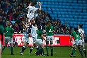 16th March 2018, Ricoh Arena, Coventry, England; Womens Six Nations Rugby, England Women versus Ireland Women; Rowena Burnfield of England wins a line out