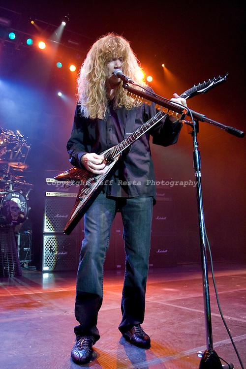 Megadeth live concert at the Palladium Ballroom on December 12, 2009 in Dallas, TX.