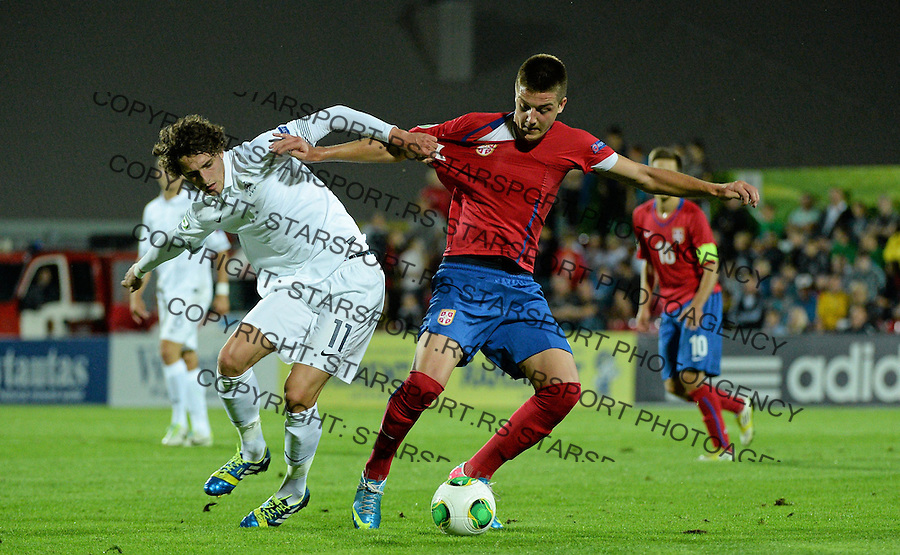 Sergej Milinkovic-Savic of Serbia and Adrien Rabiot of France during their UEFA European Under-19 Championship final  photo: STARSPORT