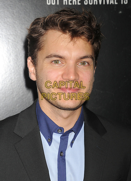 Emile Hirsch<br /> Premiere of &quot;Captain Phillips&quot; held at the Academy of Motion Picture Arts and Sciences, Beverly Hills, California, USA.<br /> September 30th, 2013<br /> headshot portait black jacket blue shirt stubble facial hair suit<br /> CAP/ROT/TM<br /> &copy;Tony Michaels/Roth Stock/Capital Pictures