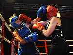 Delores Traynor (red) and Grainne Garvey (blue) taking part in the Tullyallen white collar boxing. Photo: Colin Bell/pressphotos.ie
