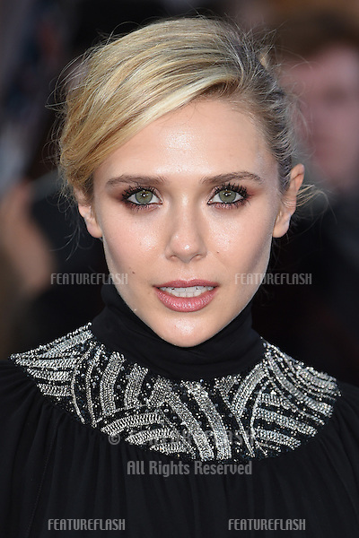 "Elizabeth Olsen arrives for the ""Avengers: Age of Ultron"" European premiere at the Vue cinema, Westfield London. 21/04/2015 Picture by: Steve Vas / Featureflash"
