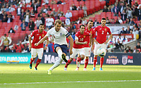 England's Harry Kane scores his side's second goal from the penalty spot<br /> <br /> Photographer Rob Newell/CameraSport<br /> <br /> UEFA European Championship Qualifying Group A - England v Bulgaria - Saturday 7th September 2019 - Wembley Stadium - London<br /> <br /> World Copyright © 2019 CameraSport. All rights reserved. 43 Linden Ave. Countesthorpe. Leicester. England. LE8 5PG - Tel: +44 (0) 116 277 4147 - admin@camerasport.com - www.camerasport.com