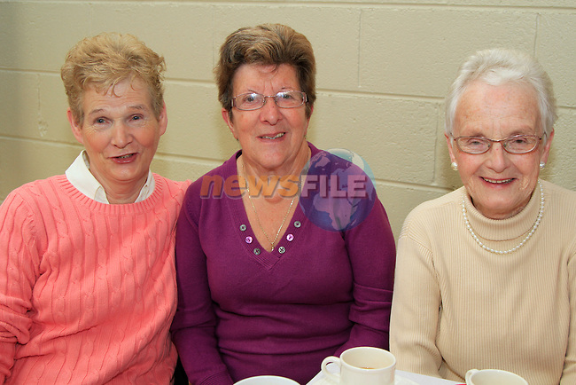 Ethel Nulty, Mary Rooney and Una McKenna.at the 20th Anniversary of the lifestyle development group..Picture Fran Caffrey www.newsfile.ie