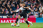 Kylian Mbappe (R) of Paris Saint Germain fights for the ball with Sergio Ramos of Real Madrid during the UEFA Champions League 2017-18 Round of 16 (1st leg) match between Real Madrid vs Paris Saint Germain at Estadio Santiago Bernabeu on February 14 2018 in Madrid, Spain. Photo by Diego Souto / Power Sport Images