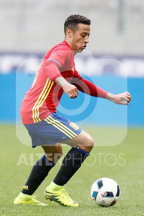 Spain's Thiago Alcantara during friendly match. June 1,2016.(ALTERPHOTOS/Acero)