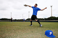 19 September 2012: France Joris Bert warms up prior to Team France friendly game won 6-3 against Palm Beach State College, during the 2012 World Baseball Classic Qualifier round, in Lake Worth, Florida, USA.