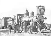 Engine #162 at Santa Fe, NM.<br /> D&amp;RG  Santa Fe, NM  1908