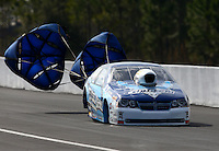 Mar 15, 2014; Gainesville, FL, USA; NHRA pro stock driver Matt Hartford during qualifying for the Gatornationals at Gainesville Raceway Mandatory Credit: Mark J. Rebilas-USA TODAY Sports