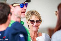 MINGLING WITH THE STARS - SUPER-MUM - Penny Stevenson: Three of our Four FEI Nations Cup Jumping - Abu Dhabi Winners: Bruce Goodin; Samantha McIntosh; Daniel Meech (Richard Gardner will be here tomorrow) during the Gold Tour Horse 1.40m Qualifier AM5 Art 238.2.2. Takapoto Estate Show Jumping. Friday 2 March. Takapoto Estate. Maungatautari. New Zealand. Copyright Photo: Libby Law Photography