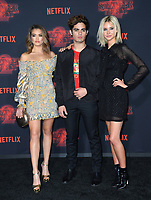 Paris Berelc, Emery Kelly &amp; Isabel May at the premiere for Netflix's &quot;Stranger Things 2&quot; at the Westwood Village Theatre. Los Angeles, USA 26 October  2017<br /> Picture: Paul Smith/Featureflash/SilverHub 0208 004 5359 sales@silverhubmedia.com