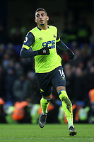 Huddersfield Town's recent signing from Charlton Athletic, Karlan Grant during Chelsea vs Huddersfield Town, Premier League Football at Stamford Bridge on 2nd February 2019