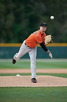 Baltimore Orioles pitcher Dallas Litscher (32) during a Minor League Spring Training game against the Tampa Bay Rays on March 16, 2019 at the Buck O'Neil Baseball Complex in Sarasota, Florida.  (Mike Janes/Four Seam Images)
