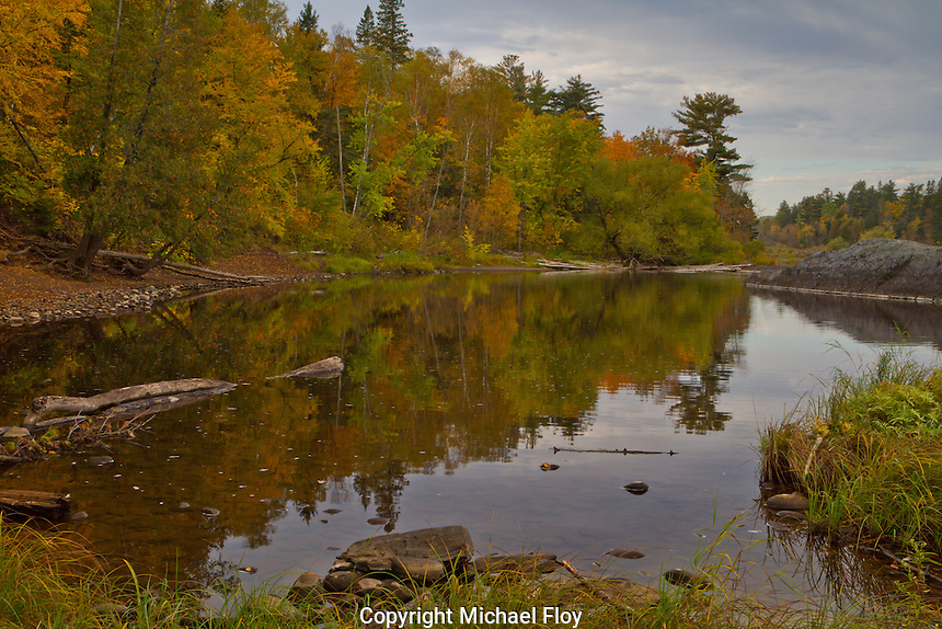 Fall Colors along the St. Louis River in Jay Cooke State Park.
