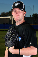March 1, 2010:  Pitcher Casey Janssen (44) of the Toronto Blue Jays poses for a photo during media day at Englebert Complex in Dunedin, FL.  Photo By Mike Janes/Four Seam Images
