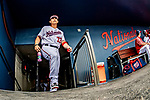 26 February 2019: Washington Nationals catcher Tres Barrera enters the dugout from the clubhouse tunnel prior to a Spring Training game against the St. Louis Cardinals at the Ballpark of the Palm Beaches in West Palm Beach, Florida. The Nationals fell to the visiting Cardinals 6-1 in Grapefruit League play. Mandatory Credit: Ed Wolfstein Photo *** RAW (NEF) Image File Available ***