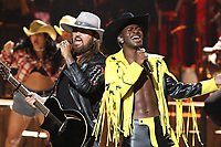 LOS ANGELES, CA - JUNE 23: Billy Ray Cyrus and Lil Nas X at the 2019 BET Awards Show at the Microsoft Theater in Los Angeles on June 23, 2019. Credit: Walik Goshorn/MediaPunch