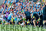 Graham O'Sullivan, Kerry in action against Jack Barry, Kerry during the GAA Football All-Ireland Senior Championship Final match between Kerry and Dublin at Croke Park in Dublin on Sunday.