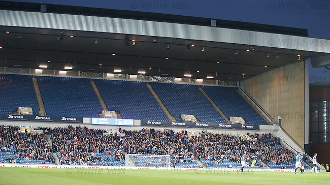 Rear sections of Copland, Broomloan and Club decks closed as the Rangers fans are staying away due to boardroom unrest