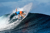 NAMOTU, Fiji (Wednesday, May 31, 2017) Courtney Conlogue (USA) on her way to the final. - After a thrilling opening day at the the Outerknown Fiji Women&rsquo;s Pro, Stop No. 5 on the 2017 World Surf League (WSL) Championship Tour (CT), competition continued today with Round 4 starting at 7:40 a.m. local time at Cloudbreak in three foot surf.<br /> <br /> There were clean conditions for the start of Round 4 and Quarterfinals but conditions started to deteriorate just before the Semis. The Final went on standby for an hour before the contest was called off for the day. Very strong onshore winds and small waves had made conditions incontestable. Photo: joliphotos.com