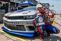 Conti pole winner Matt Bell, 12 Hours of Sebring, Sebring International Raceway, Sebring, FL, March 2015.  (Photo by Brian Cleary/ www.bcpix.com )