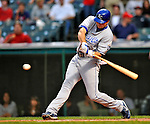 13 September 2008: Kansas City Royals' outfielder Mark Teahen in action against the Cleveland Indians at Progressive Field in Cleveland, Ohio. The Royals defeated the Indians 8-4 in the second game, sweeping their double-header...Mandatory Photo Credit: Ed Wolfstein Photo