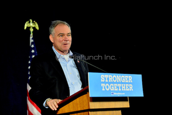 PEMBROKE PINES, FL - AUGUST 27: Democratic vice-presidential nominee Tim Kaine meet with Local Mayors and Elected Officials for a policy Meeting at Southwest Focal Point Senior Center on Saturday, August 27 in Pembroke Pines, Florida. Credit: MPI10 / MediaPunch