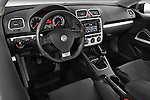High angle dashboard view of a 2009 Volkswagen Scirocco