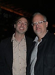 """Playwright Doug Wright and at """"Red Dog Howls"""" as it opens on September 24, 2012 at New York Theatre Workshop in New York City, New York with the after party at Phebe's.  (Photo by Sue Coflin/Max Photos)"""
