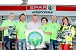 Into the woods<br /> -------------------<br /> A Hillwalk organised by Kerry Hospice, was launched last Saturday morning at Spar, Castlemaine Road, Tralee, which takes place on July 30th next at 10am at Glanageety wood, near O'Riada's of Ballymac, with registration on the morning, L-R Ted Moynihan,Ky Hospice, John Lenihan, Norman Foley (Spar) Mary Shanahan, Ky Hospice, Simon Moynihan and Karen Freeman-Jones of the RedCross.