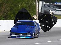 May 16, 2014; Commerce, GA, USA; NHRA pro mod driver Jim Bell during qualifying for the Southern Nationals at Atlanta Dragway. Mandatory Credit: Mark J. Rebilas-USA TODAY Sports