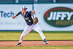 16 July 2017: Vermont Lake Monsters infielder Will Toffey, a 4th round draft pick for the Oakland Athletics, in action against the Auburn Doubledays at Centennial Field in Burlington, Vermont. The Monsters defeated the Doubledays 6-3 in NY Penn League action. Mandatory Credit: Ed Wolfstein Photo *** RAW (NEF) Image File Available ***