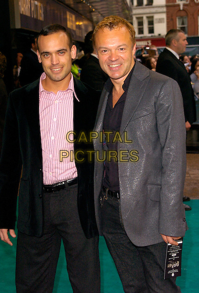 "GRAHAM NORTON (R) &  GUEST.Arrivals - ""Harry Potter and the Order of the Phoenix"" European premiere, Odeon cinema, Leicester Square London, England, 3rd July 2007..half length grey suit jacket.CAP/CAN.©Can Nguyen/Capital Pictures"