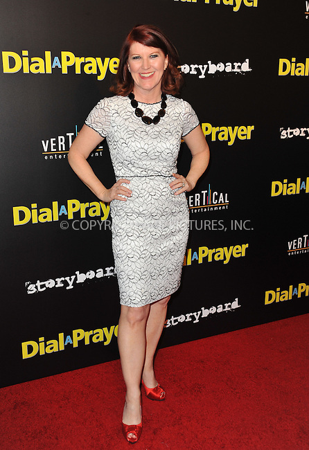 WWW.ACEPIXS.COM<br /> <br /> April 7, 2015, LA<br /> <br /> Actress Kate Flannery arriving at the 'Dial A Prayer' premiere at the Landmark Theater on April 7, 2015 in Los Angeles, California.<br /> <br /> By Line: Peter West/ACE Pictures<br /> <br /> <br /> ACE Pictures, Inc.<br /> tel: 646 769 0430<br /> Email: info@acepixs.com<br /> www.acepixs.com