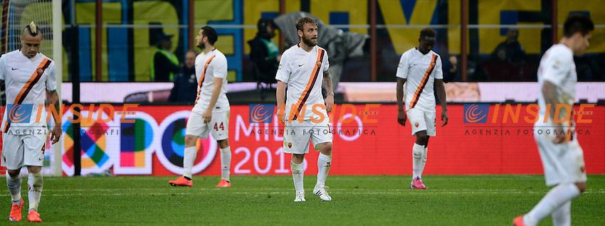 Delusione Daniele De Rossi Roma<br /> Milano 25-04-2015 Stadio Giuseppe Meazza - Football Calcio Serie A Inter - Roma. Foto Giuseppe Celeste / Insidefoto
