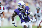 TCU Horned Frogs wide receiver David Porter (14) in action during the game between the Samford Bulldogs and the TCU Horned Frogs at the Amon G. Carter Stadium in Fort Worth, Texas.  TCU leads Stamford 24 to 7 at halftime.